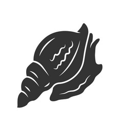 Triton glyph icon large mollusk with spiral shell vector