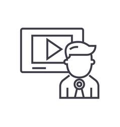 video marketingvideo channelnews line vector image