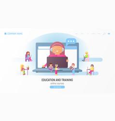 webinar concept vector image