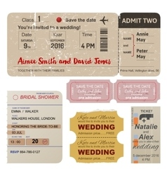 World traveler tickets collection vector image