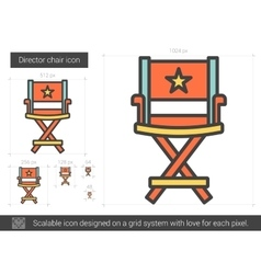 Director chair line icon vector