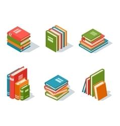 Isometric book icon vector image