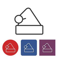 line icon of santa claus cap vector image