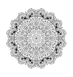 mandala doodle round ornament ethnic motives vector image vector image