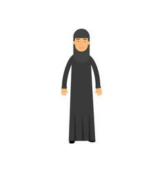 muslim woman in national arabic costume cartoon vector image vector image