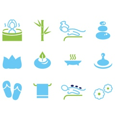 Set of icons for spa wellness and massage vector image