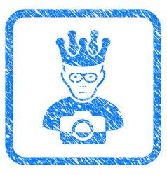 Thai king framed stamp vector