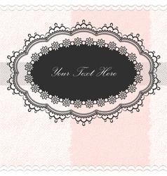 Vintage frame on textured background vector image vector image