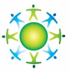 abstract global symbol vector image