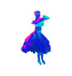 digital artistic figure of a woman vector image