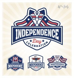 Independence day celebration badge vector image