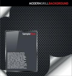 modern grille background vector image