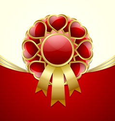Rosette made of hearts vector image vector image