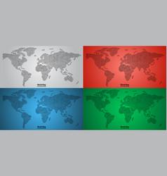 set of world map pcb design vector image