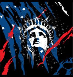 statue of liberty head vector image vector image