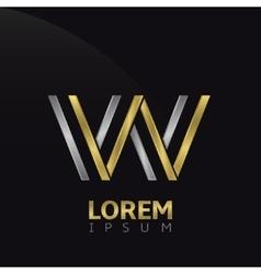 W letter logo vector image vector image