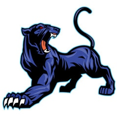 black panther mascot vector image