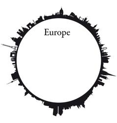 Europe Circular background vector image