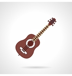 Flat color icon for guitar lessons vector image