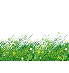 Green meadow seamless pattern for your design vector image vector image