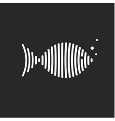 monochrome isolated logo fish vector image vector image