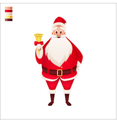 santa claus with bell isolated character vector image