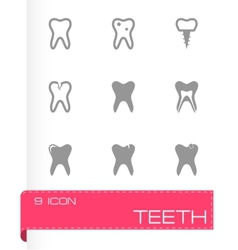 teech icon set vector image