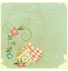 vintage easter greeting vector image vector image