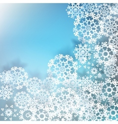 Christmas snowflakes background EPS 10 vector image vector image