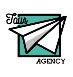 Color vintage tour agency emblem vector image
