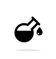 Drop from florence flask simple icon on white vector image