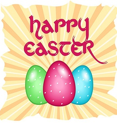 Easter card with text vector image vector image