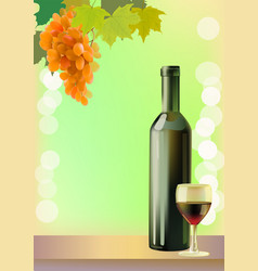 holiday wine valentine day vector image vector image