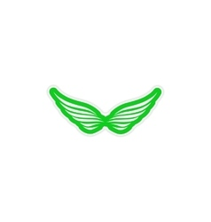 Sticker Eagle Wings logo vector image vector image