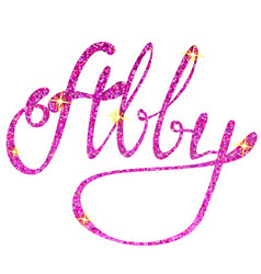Abby name lettering tinsels vector