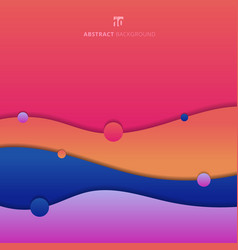 abstract background trendy fluid shape colorful vector image