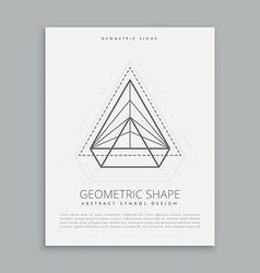 Abstract geometric symbol vector