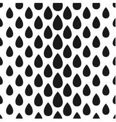 abstract seamless drop pattern monochrome black vector image