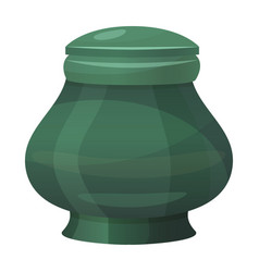antique classic urn icon vintage green amphora vector image