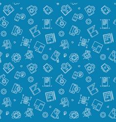 app development blue outline seamless vector image