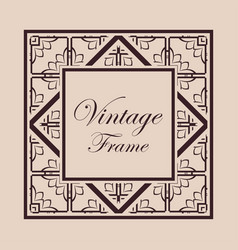 Art deco frame border vector