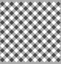 Black gingham seamless pattern vector