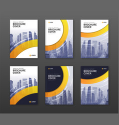 brochure cover design templates set vector image