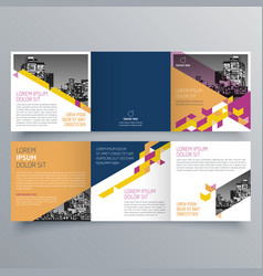brochure design 645 vector image