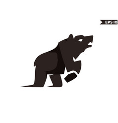 brown bear logo vector image
