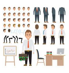 Business man character for animation set vector