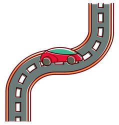 Car road street highway direction plan vector