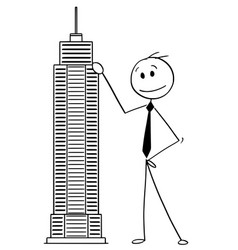 Cartoon man or businessman standing vector