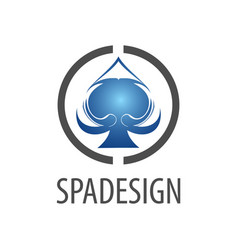 circle spade sign logo concept design symbol vector image
