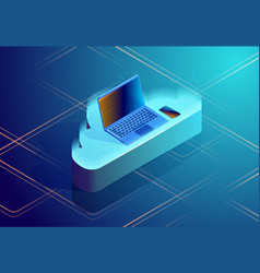 Cloud data storage abstract concept isometric vector